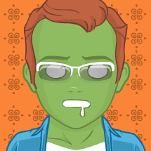 zombiefied man
